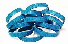 Sexual Assault Awareness Teal Bracelets Jelly Wristbands Lot of 100 IMPERFECT