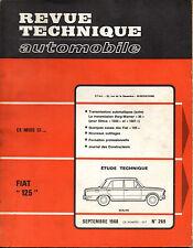 RTA revue technique automobile  n° 269 FIAT 125 1968