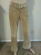 Dolce & Gabbana D&G Italy Leather Boho Hippy Flare Tan Pants 26/40 US S