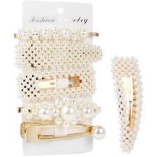 6Pcs/Set Pearl Hair Clip Barrettes 2019 Fashion For Women Hairpins Accessories