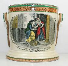 Adams - CRIES OF LONDON - JAR WITH HANDLE - NARROW GREEN TRIM WITH LEDA BORDER