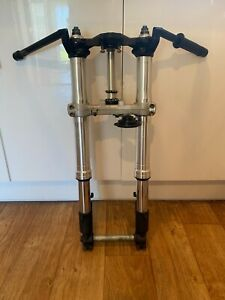 HONDA CBR 929 Front End Forks, top & bottom yokes, wheel spindle, Clip ons (1)
