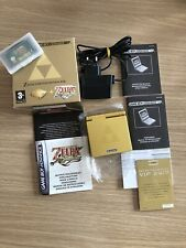 Gameboy Advance SP Zelda Limited Edition Pak + Zelda The Minish Cap Juego MINT