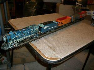 LIONEL  #1950 UNIQUE LINES  Steam Locomotive & CARS,  0 SCALE