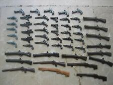 LOT 50 ARMES A FEU PLAYMOBIL PISTOLETS CARABINES COW BOY INDIEN, POLICE, PIRATE