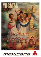 ADVERTISING ART PRINT Yucatan Vintage Apple Collection