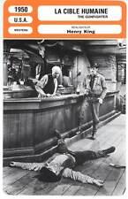 LA CIBLE HUMAINE - Peck,Mitchell,King (Fiche Cinéma) 1950 - The Gunfighter