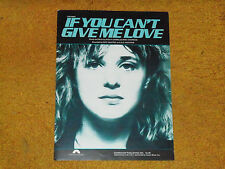 Suzi Quatro sheet music If You Can't Give Me Love (US) 1979 6 pages (VG+ shape)
