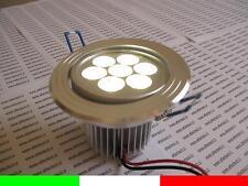 FARETTO DA INCASSO LED BIANCO FREDDO 7X1w 7w LUCE ORIENTABILE 220v 230v AC