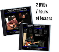 Learn to Play Guitar 2 DVD COMBO *7 hrs of Lessons* Chords Harmony Rhythm +