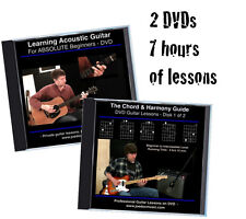Learn to Play Guitar 2 DVD Guitar Lessons Set / BEST EASY BEGINNER GUITAR COURSE