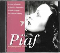 CD 16 TITRES EDITH PIAF SES PLUS GRANDS SUCCÈS BEST OF 1994 NEUF SCELLE