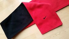 Nike Fleece Winter Scarf Red Black Reversible Running Neck Cozy Sport 40 inch