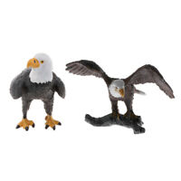 2 Pieces Bald Eagle Animal Model Figures Figurine Toy Play Set