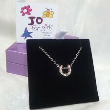 JO FOR GIRLS STERLING SILVER LUCKY HORSESHOE PENDANT AND CHAIN