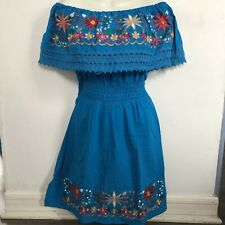 TurquMexican Dress, Embroidered Dress, Vestido Mexicano, Mexican Clothing, L