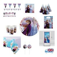 New Disney Frozen 2 II Girls Magical Princess Party decorations and tableware