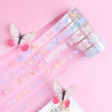 5 Rolls Washi Tape Set Butterfly Scrapbooking Stationery Planner Card Decor Diy