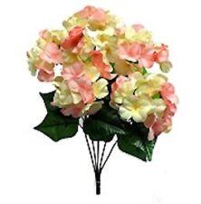 Cream Pink Hydrangea Flowers Bush Wedding Bouquet Table Centerpiece Diy