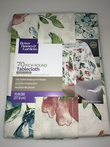 "Better Homes & Garden Annabelle Floral Print Tablecloth 70"" Round"