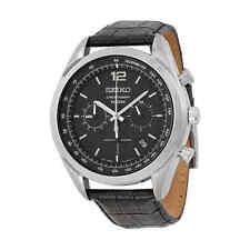 Seiko Chronograph Black Dial Men's Watch  SSB097