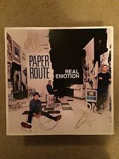 *SIGNED* Paper Route Real Emotion Vinyl LP Anberlin MuteMath Copeland Paramore
