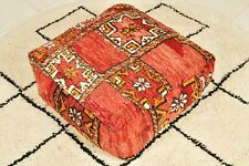 Moroccan red pouf, Vintage Pouf,berber pouf,Floor pillow, Moroccan floor cushion