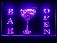 Bar Open Beer Cocktails Pub Led Light Sign