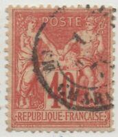 1876/1878 FRANCIA PACE E COMMERCIO 40 CENT. I°TIPO OTTIMA CENTRATURA USATO