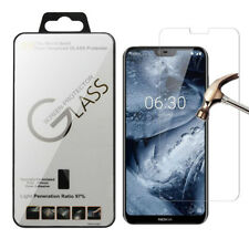 Clear Tempered Glass Screen Protector Cover For Nokia 6.1 Plus,X6 2018