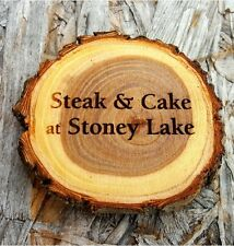 """Personalized 4"""" Old West Log Coaster"""