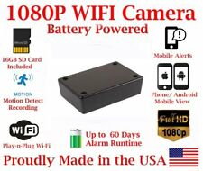 AES 30 Day Battery Powered WIFI Black Box Mobile Wireless Spy Camera Nanny Cam