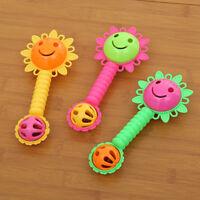 Lovely Sun Flower Rattles Hand Bell Development Grasp Toy Baby Funny Gift