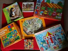 7 Childrens Jigsaw Puzzles Vintage Ages vary from 4 up. All complete