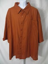 New NWT Royalty Culture Mens Size 6XL Short Sleeve Button Front Shirt Linen Top