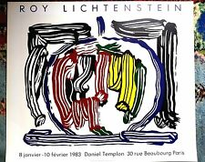 23.5x25 roy lichtenstein original poster 1983 paris france good condition silk