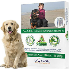 Natural Flea and Tick Prevention Control for Large Dogs up to 110lbs, Arava