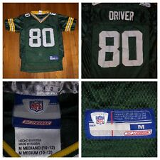 Reebok Donald Driver #80 Green Bay Packers Boys Green Jersey Size Medium (10-12)