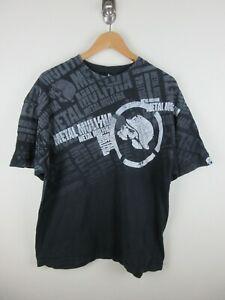 Metal Mulisha All Over Graphic Mens T Shirt Size XL Crew Neck Black Vintage Rare