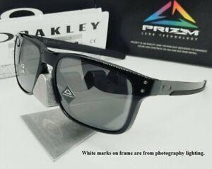 "OAKLEY polished black ""PRIZM"" POLARIZED ""HOLBROOK MIX"" OO9384-06 sunglasses NEW!"