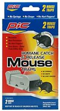 PIC #POMT Humane Catch and Release Mouse Trap, 2-Pack NEW