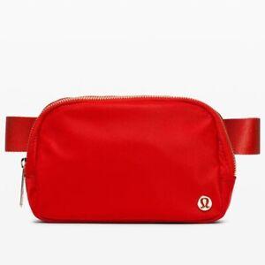 New Lululemon Everywhere Belt Bag - Dark Red - Gold Logo