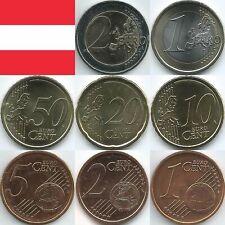 Österreich Euromünzen von 2002 bis 2021, unzirkuliert/bankfrisch