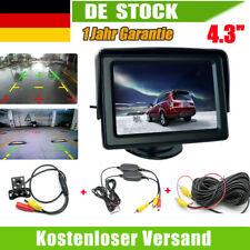"Funk 170° Rückfahrkamera Nachtsicht Kamera Mit 4.3"" Auto Monitor Wasserdicht DHL"