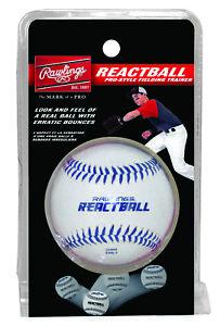 Rawlings Pro-Style REACTBALL - Baseball Bounces Erratically for Fielding Skills