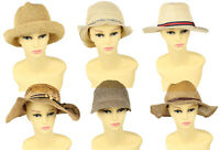 Vintage Womens Straw Hats Summer Beach Retro 70s 80s 90s Wholesale x35 -Lot676