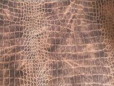 Alligator Brown Tones Vinyl Upholstery Fabric