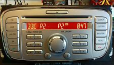 FORD CAR RADIO 6000 CD OVAL SINGLE CD KW 2000 SILVER (MINT)