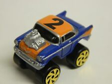 MICRO MACHINES `57 Chevrolet Die Variation # 1 Wheel Variation Purple & Orange//