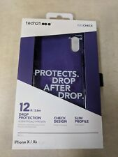 Tech21 - Evo Check Case for Apple® iPhone® X and XS - Ultra Violet